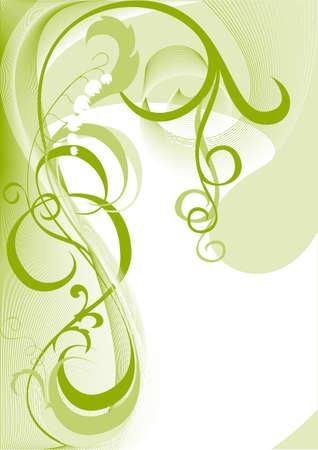 giglio: Questo � un elemento decorativo con un motivo vegetale Vettoriali