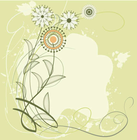 Stylized image of wild flowers on a light background  Stock Vector - 14862878