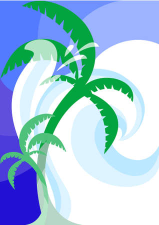 This is a decorative pattern with a few characters of marine recreation