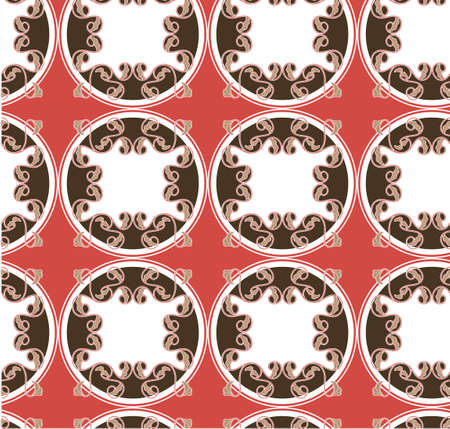 Vintage pattern, composed of plant cells and circles Vector