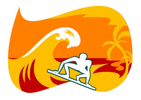 This is the logo of club surfing in Bali Vector