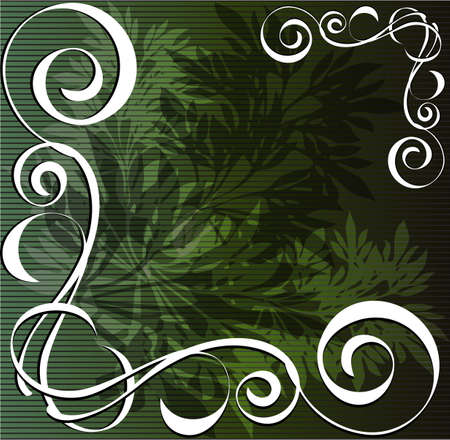 Floral design and vintage item on a green background Stock Vector - 14863022