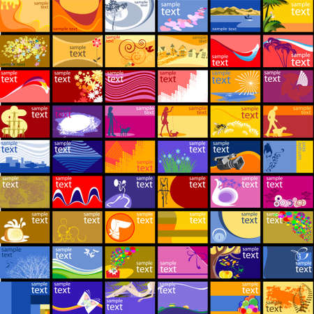 Set of designs to business and discount cards Stock Vector - 14863045