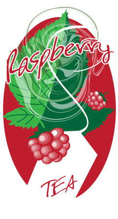 The element of advertising design packages raspberry tea