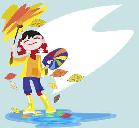 La bambina - dipinge paesaggio artista con un pennello e vernici