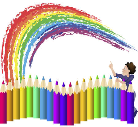 A large set of colored pencils for drawing Stock Vector - 15237480