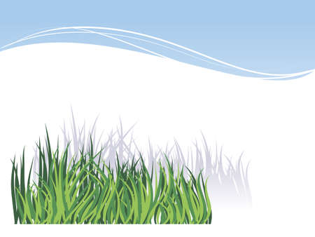 White background with green grass image for greetings Valentine's Day or invitations for a picnic Stock Vector - 15799795