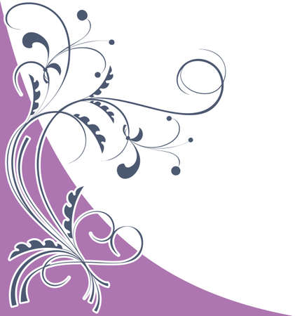 Corner floral pattern on a light violet background Stock Vector - 16268719