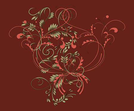 Vintage pattern in traditional Russian style on a red background Vector