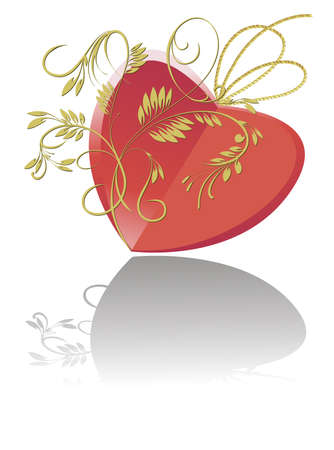 The stylized image of the heart for greeting card Valentine's Day Stock Vector - 16268824