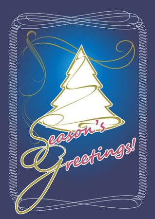 Elegant greeting card - greeting the Holiday Season Stock Vector - 16721547