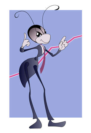 Image of an ant - manager, who is a symbol of real estate agencies