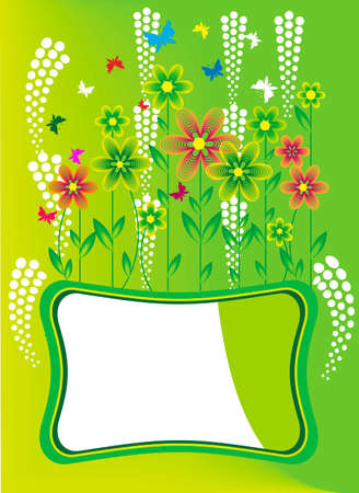 Image of wildflowers on the banner green eco