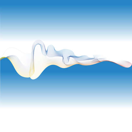 Abstract background. Vector dynamic  intersecting blue wave Illustration