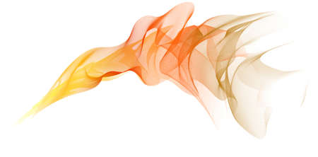 Vector abstract orange spiral on a white  background