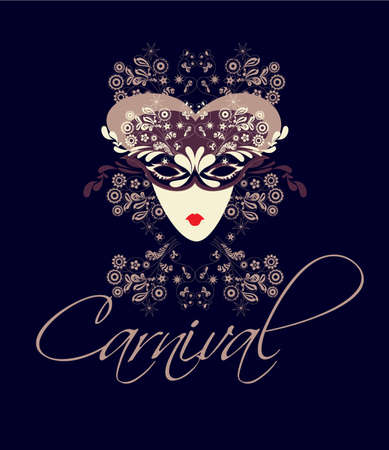 Vector elements to create a poster advertising the carnival