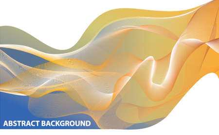 Abstract background. Vector dynamic  intersecting orange wave