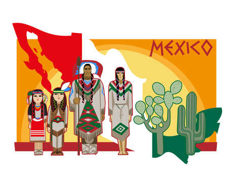 image of ancient and modern elements Mexican culture