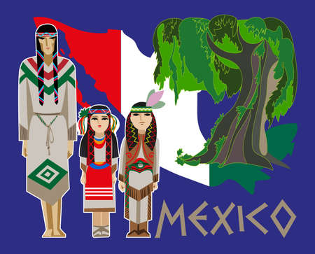 mexico beach: image of ancient and modern elements Mexican culture
