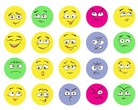 Set of emoticons, emoji isolated on white background Stock Vector - 94389349
