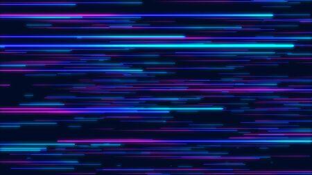 Geometrischer Hintergrund der blauen und purpurroten abstrakten radialen Linien. Datenfluss. Explosionsstern. Glasfaser. Bewegungseffekt. Hintergrund Standard-Bild