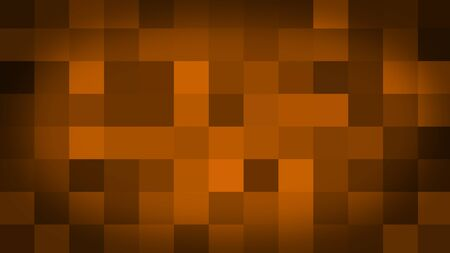 Orange motion abstract background colorful pixels flashing and switch. Animation background glowing of mosaic tiles. Moving technologic squares with shine light. Abstract Red Squares background