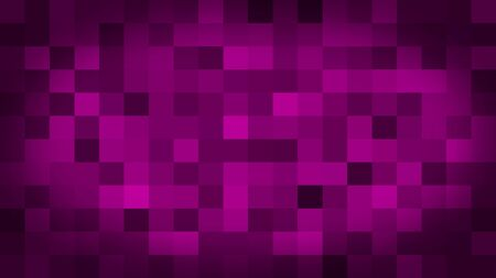 Pink motion abstract background colorful pixels flashing and switch. Animation background glowing of mosaic tiles. Moving technologic squares with shine light. Abstract Red Squares background