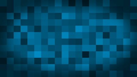 Blue motion abstract background colorful pixels flashing and switch. Animation background glowing of mosaic tiles. Moving technologic squares with shine light. Abstract Red Squares background
