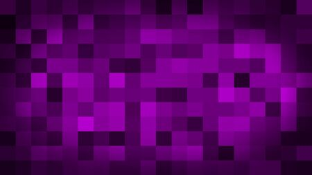 Purple motion abstract background colorful pixels flashing and switch. Animation background glowing of mosaic tiles. Moving technologic squares with shine light. Abstract Red Squares background
