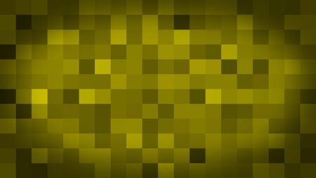 Yellow motion abstract background colorful pixels flashing and switch. Animation background glowing of mosaic tiles. Moving technologic squares with shine light. Abstract Red Squares background