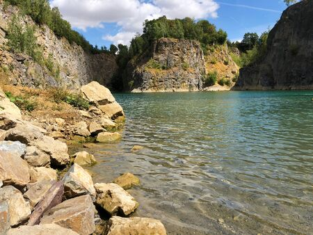 Flooded quarry and dive site. Famous location for fresh water divers and leisure attraction. Quarry now explored by scuba divers. Adrenaline hobby