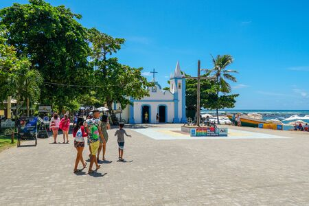 February 22nd, 2019: Church of Sao Francisco De Assis. Little church in the middle of the village of Praia Do Forte. Famous tourist attraction, State of Bahia, Brazil.
