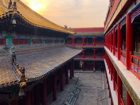 The Putuo Zongcheng Buddhist Temple, one of the Eight Outer Temples of Chengde, built between 1767 and 1771 and modeled after the Potala Palace of Tibet. Chengde Mountain Resort. China