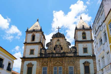 Sao Francisco church in Pelourinho, in the historical center of Salvador Bahia. Brazil. Pelourinho, in the historical center of Salvador Bahia. Brazil. Febraury 11t, 2020 Stockfoto