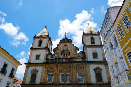 Sao Francisco church in Pelourinho, in the historical center of Salvador Bahia. Brazil. Pelourinho, in the historical center of Salvador Bahia. Brazil. Febraury 11t, 2020