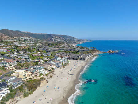 Aerial view of Laguna Beach coastline , Orange County, Southern California Coastline, USA Stock fotó