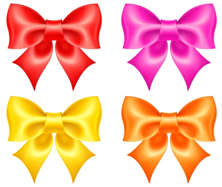gradient mesh: Vector illustration - collection of colored bows created using gradient mesh  EPS 10, RGB