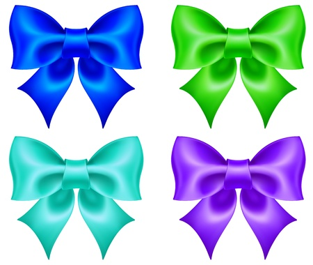 illustration - collection of colored bows. Created with a gradient mesh. Ilustracja