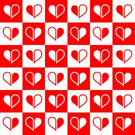 quadratic: Illustrazione vettoriale - senza soluzione di met� cuore rosso