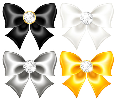 illustration collection: Vector illustration - collection of festive bows   Illustration