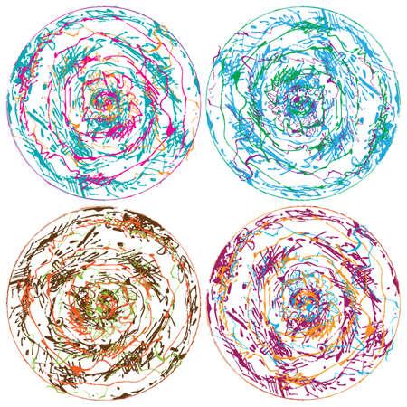 scrawl: Colourful hand drawn circles