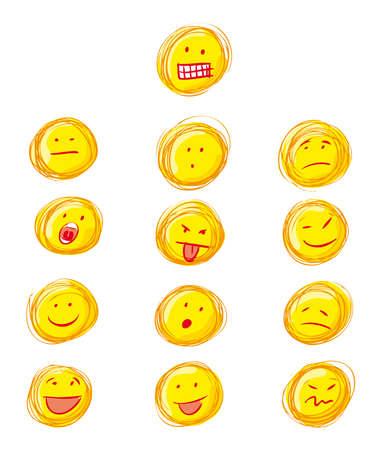 a whole set of grunge emoticons