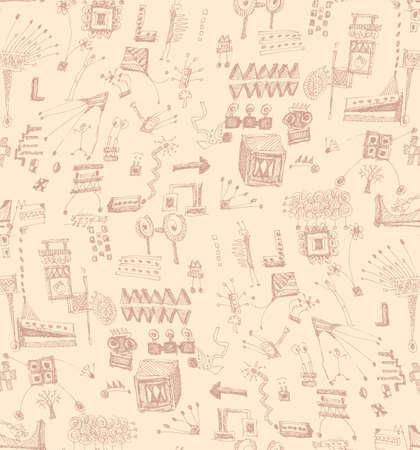 A scribble seamless pattern Illustration