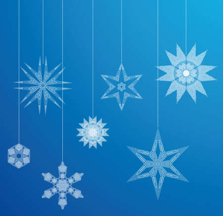 Whole set of higly detailed christmas crystal designs. All in separate layers for better edit