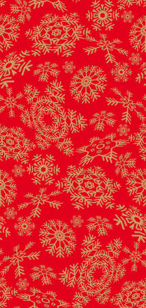 select all: A snowflakes seamless pattern. Select all the art and drop it into your swatches palette to create an Illustrator pattern.