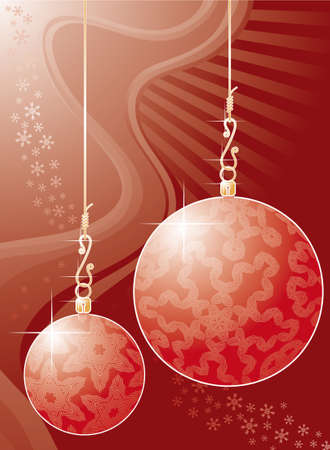 Christmas background with giant balls Vector