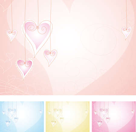just a valentine background in four color variants