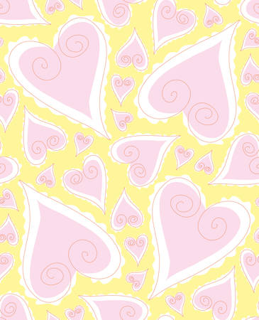 Love seamless Pattern. Select all and drop into your swatch palette in AI Vector
