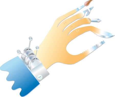 multifunction: multifunction hand with various equipments instead of fingers