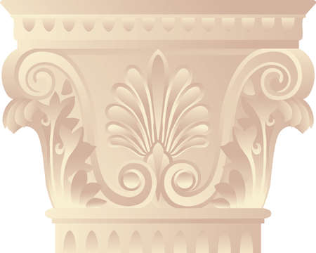 Architectonic capital in greek - corinthian style